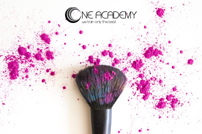 Makeup Brush with Pink Pigments